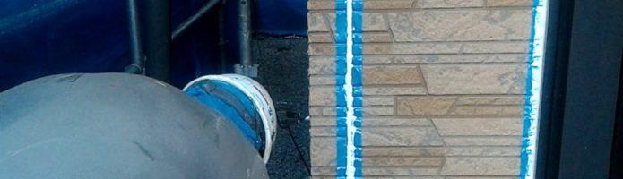 外壁塗装埼玉県ふじみ野市西鶴ヶ岡より シーリング注入・押さえ作業