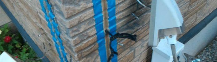 外壁塗装埼玉県ふじみ野市西鶴ヶ岡より 配線・器具類の取り外し作業