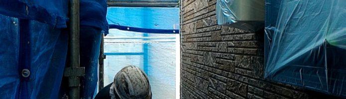 外壁塗装埼玉ふじみ野市西鶴ヶ岡より サイディングの下塗り作業