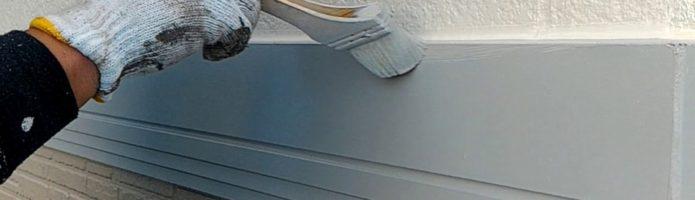 外壁塗装東京都東久留米市小山よりby美光塗装 帯板上塗り作業