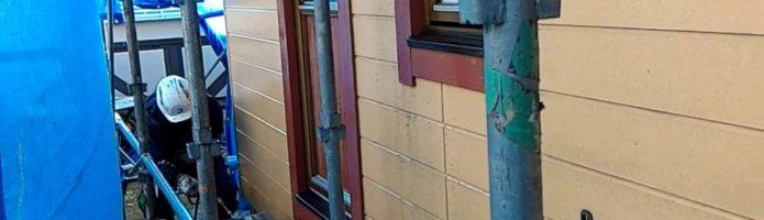 外壁塗装埼玉県川越市中台より サイディング壁の高圧洗浄作業