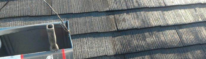埼玉県新座市野寺現場で屋根、外壁下塗り作業を行いました