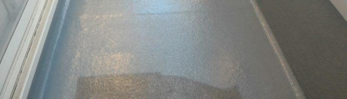 ベランダ床と屋根上塗り2回目作業「埼玉県新座市野寺現場より」