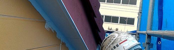 外壁塗装埼玉県川越市中台より 破風板の上塗り1回目作業