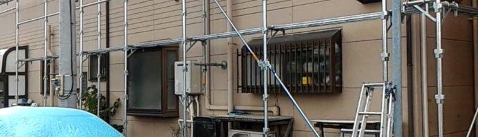 外壁塗装埼玉県富士見市鶴馬より 仮設足場設置