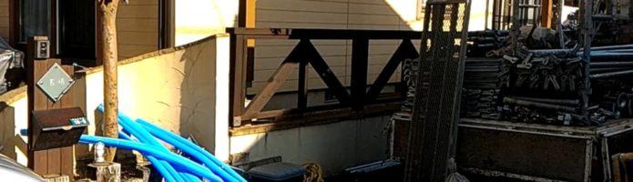外壁塗装埼玉県川越市中台より 仮設足場設置作業