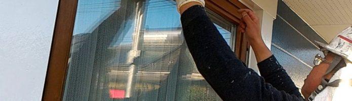 外壁塗装埼玉県川越市中台より 換気フード取付作業