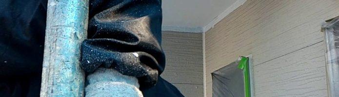 軒天の上塗り作業 外壁塗装埼玉県富士見市山室より