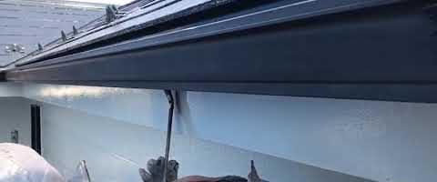 ニッペファインフッソで雨樋を塗装しました 外壁塗装埼玉県富士見市諏訪現場より