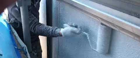 モルタル壁のマスチックパターン塗り 外壁塗装埼玉県川越市小ヶ谷より