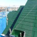埼玉県富士見市山室現場でコロニアル屋根の仕上げ塗装をしました