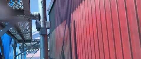 金属サイディングの錆止め 外壁塗装埼玉県川越市小ヶ谷より