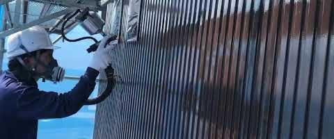 ニッペファインフッソで温風低圧塗装 外壁塗装埼玉県川越市小ヶ谷より