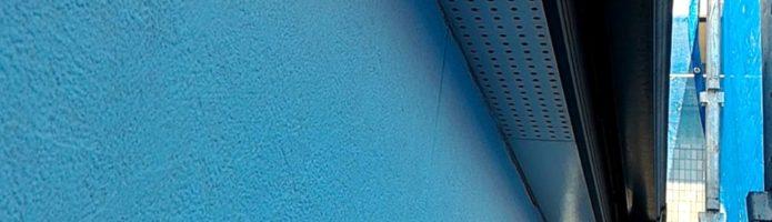 軒天の上塗りをしました 外壁塗装埼玉県ふじみ野市鶴ヶ丘現場より