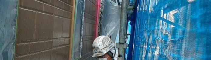 デザインサイディングの再現塗装準備 外壁塗装埼玉県ふじみ野市鶴ヶ丘現場より