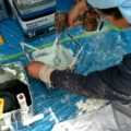 2液性塗料の撹拌作業 外壁塗装埼玉県川越市西小仙波町より
