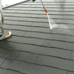 コロニアル屋根高圧洗浄作業|埼玉県ふじみ野市清見より