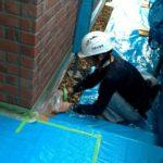 養生作業 外壁塗装埼玉県ふじみ野市清見で塗替えリフォーム施工中