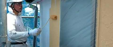 ファインシリコンフレッシュで外壁を塗装しました 外壁塗装埼玉県ふじみ野市清見現場で塗替えリフォーム施工中