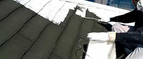 キクスイSPパワーサーモシーラーでコロニアル屋根を塗装しました 外壁塗装埼玉県ふじみ野市清見現場より塗替えリフォーム施工中