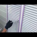 雨戸の仕上げ塗装 外壁塗装埼玉県富士見市水谷東現場で塗替えリフォーム施工中