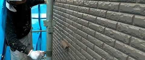 ダイヤカレイド中塗りを塗装しました|外壁塗装埼玉県川越市仙波町現場で塗替えリフォーム施工中
