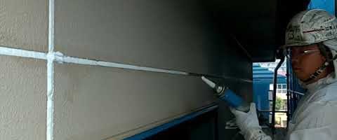 ALC壁のシーリング作業|外壁塗装埼玉県川越市仙波町現場より塗替えリフォーム施工中