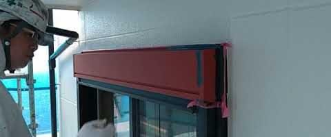 ニッペファインフッソでシャッターBOXを塗装しました|外壁塗装埼玉県川越市仙波町現場で塗替えリフォーム施工中