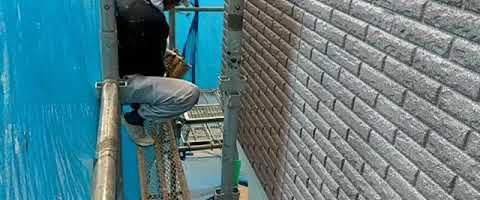 ダイヤカレイド上塗りを吹付塗装しました|外壁塗装埼玉県川越市仙波町で塗替えリフォーム施工中
