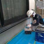 アステックベースガードで基礎を塗装しました|外壁塗装埼玉県川越市仙波町現場で塗替えリフォーム施工中