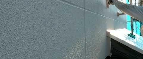 外壁にアステック超低汚染リファインを塗装しました|外壁塗装埼玉県所沢市こぶし町現場で塗替えリフォーム施工中