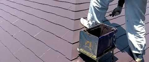スーパーセランマイルドIRでコロニアル屋根を塗装しました|外壁塗装埼玉県川越市仙波町現場で塗替えリフォーム施工中