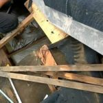 屋根の雨漏り工事 外壁塗装埼玉県川越市仙波町現場で塗替えリフォーム施工中