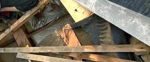 屋根の雨漏り工事|外壁塗装埼玉県川越市仙波町現場で塗替えリフォーム施工中