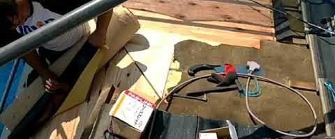 屋根の野地板を張り替えました|外壁塗装埼玉県川越市仙波町現場で塗替えリフォーム施工中
