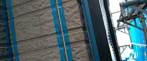 ハマタイトNO.30プライマー塗布作業|外壁塗装埼玉県川越市仙波町現場で塗替えリフォーム施工中