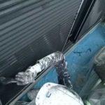 ニッペファインフッソで雨戸塗装|外壁塗装埼玉県川越市仙波町現場で塗替えリフォーム施工中