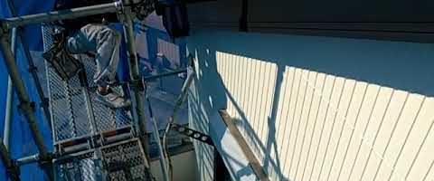 ニッペファインフッソで破風板を塗装しました|外壁塗装埼玉県富士見市鶴馬現場で塗替えリフォーム施工中