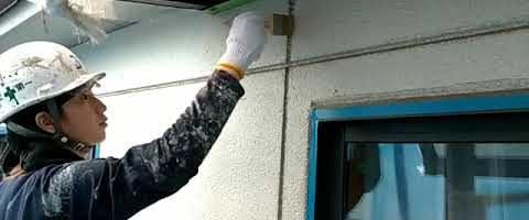 ALC目地にプライマーを塗布しました|外壁塗装埼玉県川越市並木西町現場で塗替えリフォーム施工中