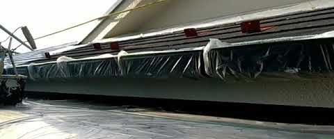 軒天と破風板をスーパーセランフレックスで塗装しました|外壁塗装埼玉県川越市並木西町で塗替えリフォーム施工中