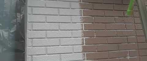ダイヤスーパーセランフレックスで外壁を塗装しました|埼玉県川越市並木西町現場で塗替えリフォーム施工中
