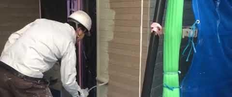 KFセミフロンアクアを塗装しました|外壁塗装埼玉県川越市的場新町現場で塗替えリフォーム施工中