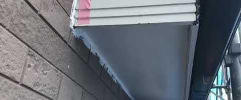 ビルデックNEOで軒天を塗装しました|外壁塗装埼玉県川越市的場新町現場で塗替えリフォーム施工中