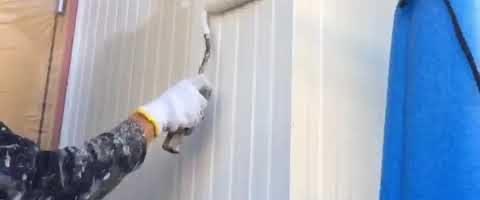 超低汚染リファイン1000Si-IR塗装|外壁塗装埼玉県富士見市鶴馬現場で塗替えリフォーム施工中