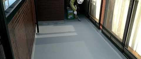 FRP防水の上にタケトップを塗装しました|外壁塗装埼玉県川越市上戸現場で塗替えリフォーム施工中