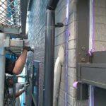 窯業系サイディング壁のシーリング作業 外壁塗装埼玉県川越市西小仙波町現場で塗替えリフォーム施工中