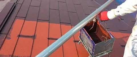 コロニアル屋根に遮熱塗料を塗装しました|外壁塗装埼玉県川越市並木新町現場で塗替えリフォーム施工中