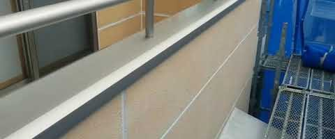 ALC壁のシーリング作業が完了しました|外壁塗装埼玉県川越市旭町現場で塗替えリフォーム施工中