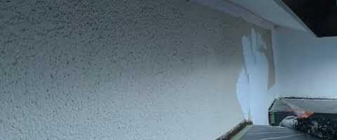 モルタル壁のマスチックパターン塗装|外壁塗装埼玉県富士見市諏訪現場で塗替えリフォーム施工中です