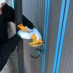伸縮目地のシーリング撤去作業|埼玉県ふじみ野市苗間現場で塗替えリフォーム施工中です